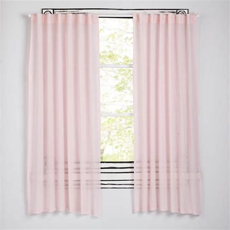 ripple curtains 63 quot ripple curtain pink the land of nod