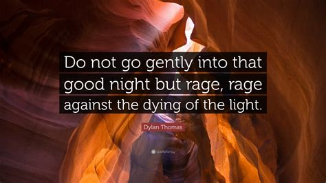 do not go gently into that night rage rage against your dylan thomas quote do not go gently into that good night