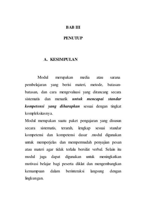 penulisan daftar pustaka badan pusat statistik prosedur penyusunan modul