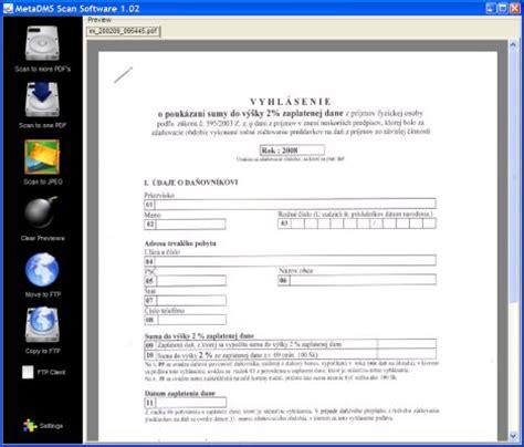 scan program metadms scan software