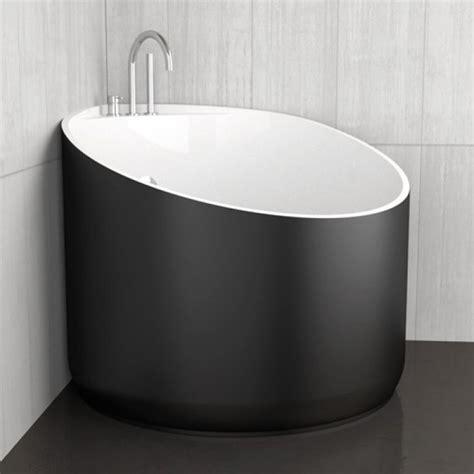 vasche da bagno glass vasca da bagno angolare rotonda mini black glass design