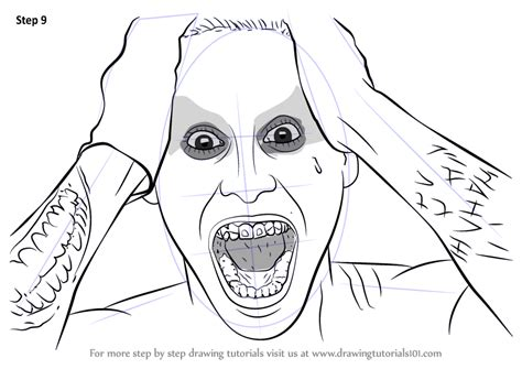 learn how to draw jared leto as the joker from