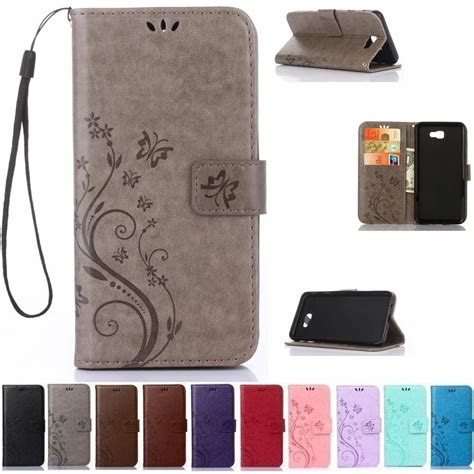 flip leather wallet cards stand case cover  samsung galaxy  prime   ebay