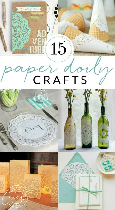 beautiful paper doily crafts  crazy craft lady