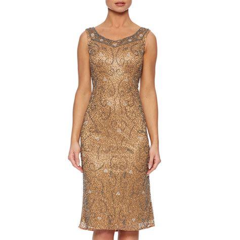 beaded sweet neckline shift dress by raishma