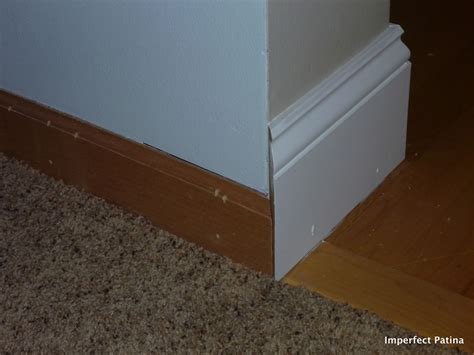 how tall should baseboards be imperfect patina new tall baseboards