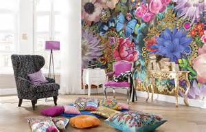 Flower Wall Mural abstract flowers melli mello wall murals