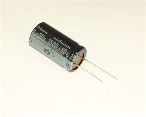nichicon aluminium capacitors er152m80v22x4185 nichicon capacitor 1 500uf 80v aluminum electrolytic radial 2020069709