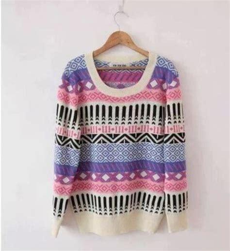 pattern sweaters tumblr sweater cream color pattern colorfull black beautiful