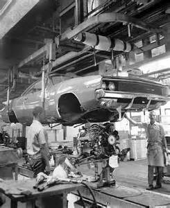1968 dodge charger on the hamtramck assembly line mopar