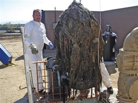 Cousins Plumbing by A Submersible In A Peoria Wastewater Treatment Plant Is Clogged With Baby Wipes