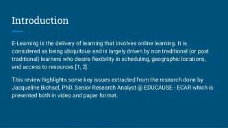 e learning thesis concerns and challenges of e learning in higher education