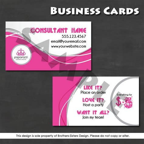 Paparazzi Business Cards