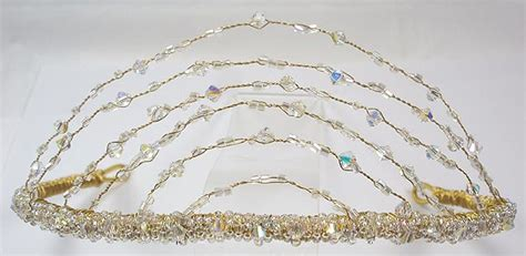 Handmade Wedding Jewellery Uk - tiaraonline arch tiara delicate handmade tiaras and