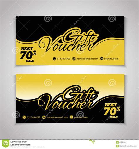 design house voucher abstract gift voucher or coupon design template voucher