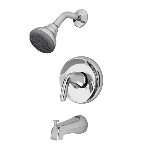Bathroom Tub And Shower Faucets Shop American Standard Covina Chrome 1 Handle Watersense Bathtub And Shower Faucet With Single