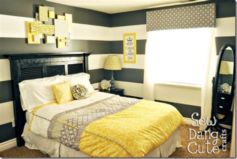 Yellow And Grey Master Bedroom by Pity 45 Bedrooms And Gray