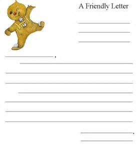 Friendly Letter Writing Paper Friendly Letter Writing Paper Template