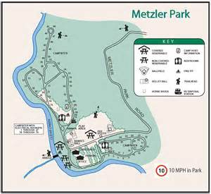 Oregon Camping Map by Metzler Park Campground Near Portland Oregon