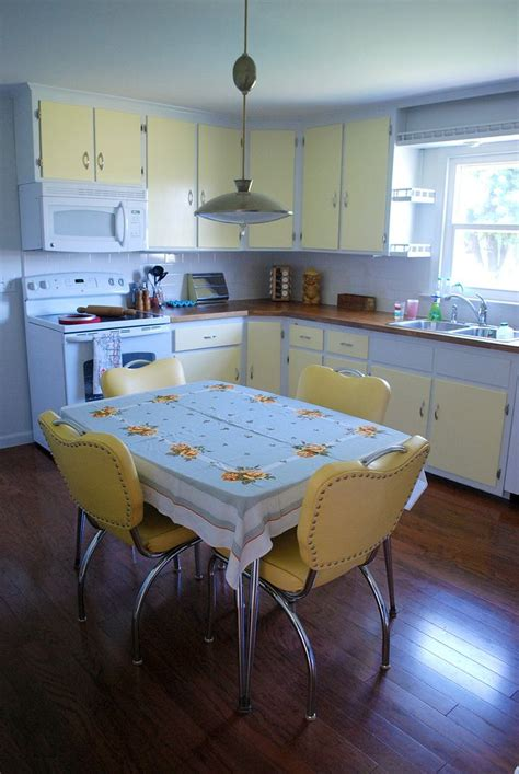 yellow vintage kitchen yellow white two tone kitchen cabinets and vintage