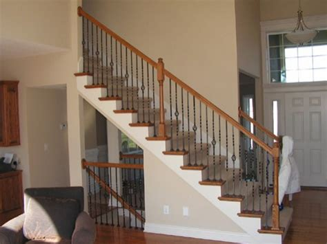 Banister Vs Baluster Staircase Spindle Vs Halfwall