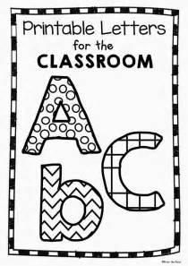 Bulletin Board Letter Templates Free Printable Classroom Letters Teacher S Corner