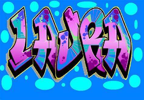 imagenes te amo laura laura te amo en graffiti imagui