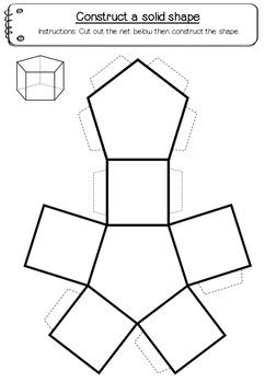 geometry net templates shape nets 3d 15 printable net templates maths