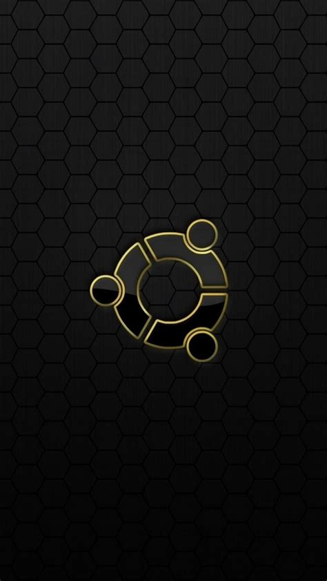 black yellow wallpaper iphone ubuntu os logo black yellow the iphone wallpapers