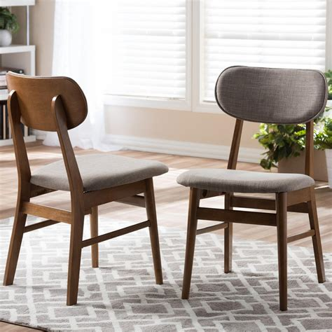 gray upholstered dining chairs baxton studio sacramento gray fabric upholstered dining