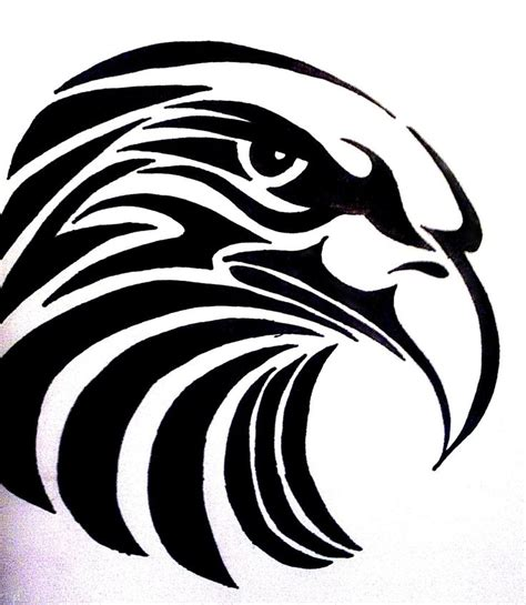 tribal eagle head tattoo tribal eagle design by bogi90