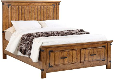 rustic king bed brenner rustic honey cal king panel storage bed 205260kw