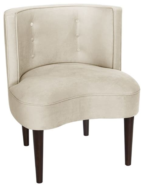 armless armchairs armless chair with buttons transitional armchairs and