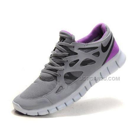 nike free run 2 waterproof womens shoes grey purple on