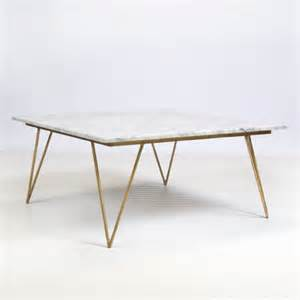 Worlds Away Coffee Table Neal Gold Leafed Coffee Table W White Marble Top By