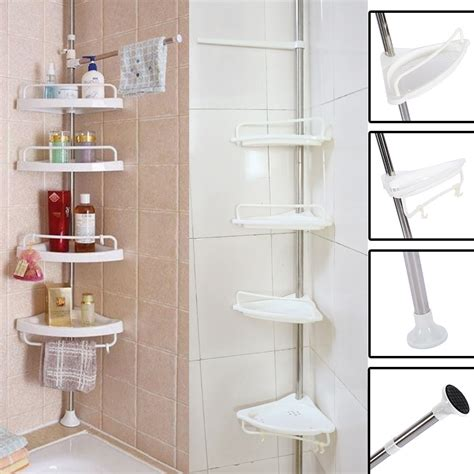 New Bathroom Bathtub Shower Caddy Holder Corner Rack Shelf Bathroom Shower Racks