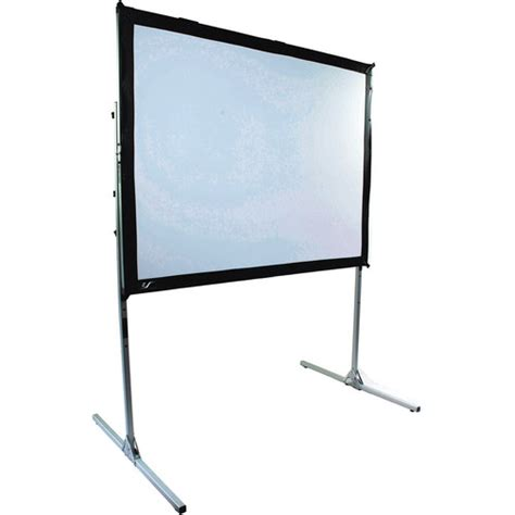 Simple Screen Fixed Frame 84 4 3 Soft Matte Grey 1 elite screens quickstand portable fixed frame projection q100rh1