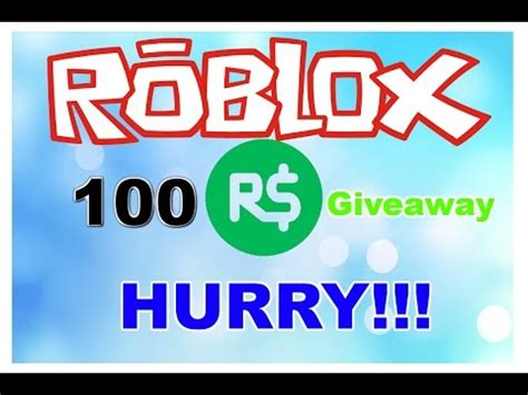 Robux Giveaway Youtube - 100 robux giveaway over youtube
