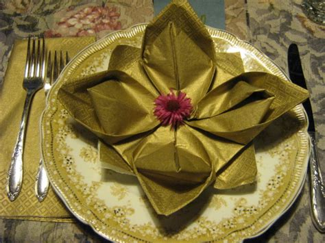 Napkin Origami Flower - serviette napkin folding maries pad variation lotus