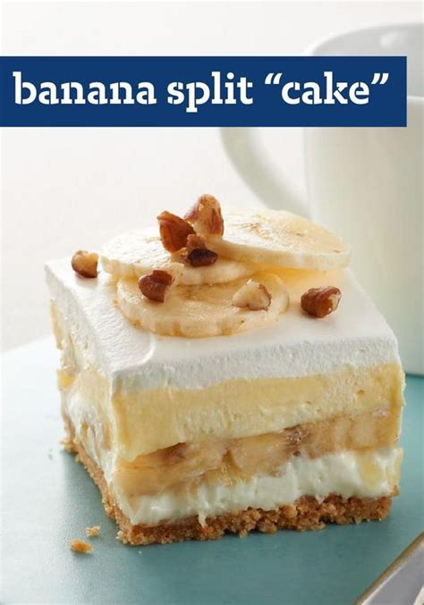 Banana Split Dessert Photo 17650103 Banana Split Quot Cake Quot What Could Be Better Than This No