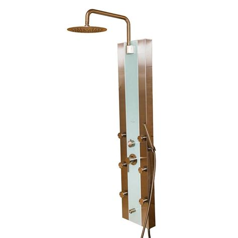 Shower System With Jets by Pulse Showerspas Tropicana 6 Jet Shower System In White
