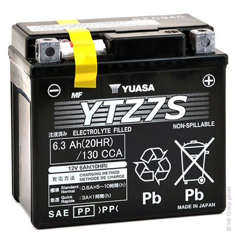 Motorrad Batterie 12v 6ah by Motorrad Batterie Yuasa Ytz7s 12v 6ah Mot9213 All