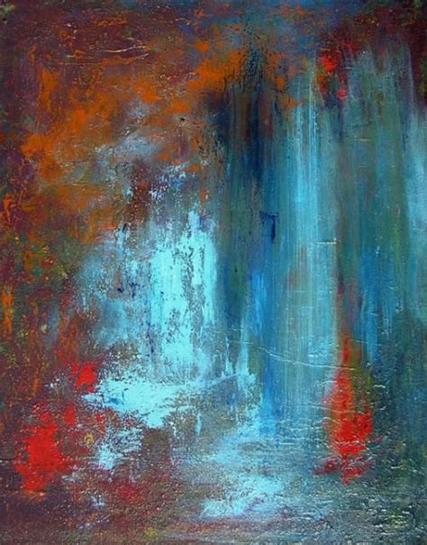 acrylic painting waterfalls andrea cermanski waterfall paintings