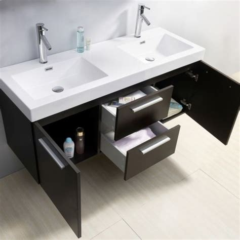 54 inch bathroom vanity double sink midori 54 inch double sink wenge bathroom vanity