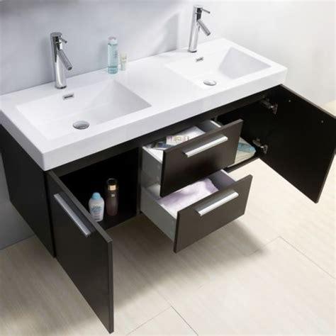 54 inch bathroom vanity double sink midori 54 inch double sink wenge bathroom vanity contemporary los angeles by