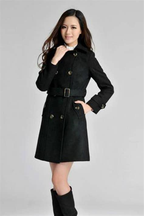 Jaket Korea 1 jaket wanita korea black korean coat