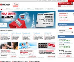 Unicredit Banca Conti Correnti On Line by Unicredit Bancadiroma Unicredit Banca Servizi