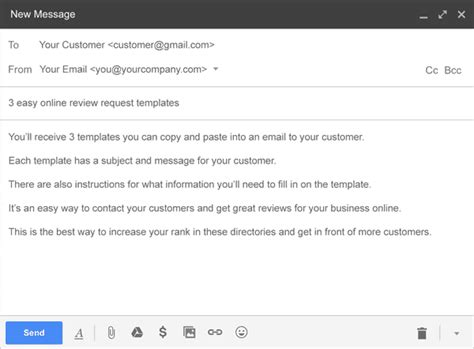Free Review Request Email Templates Get More Online Reviews Email Template Asking For Reviews