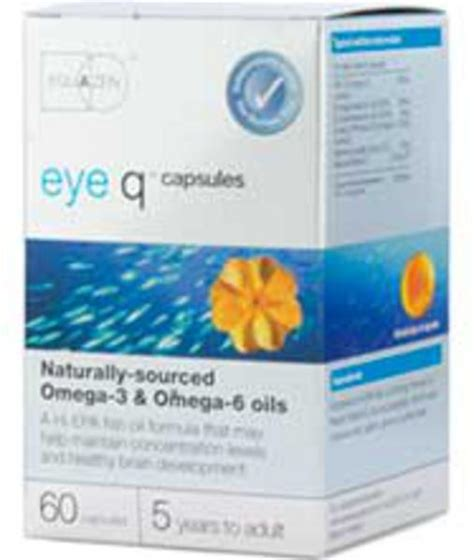 eye q supplement ingredients eye q eye q fish 500mg in 60capsules from equazen