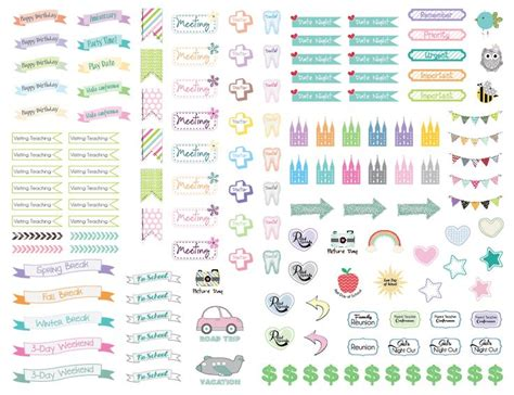 cute planner stickers free printable cute lds planner stickers planners lds and stickers